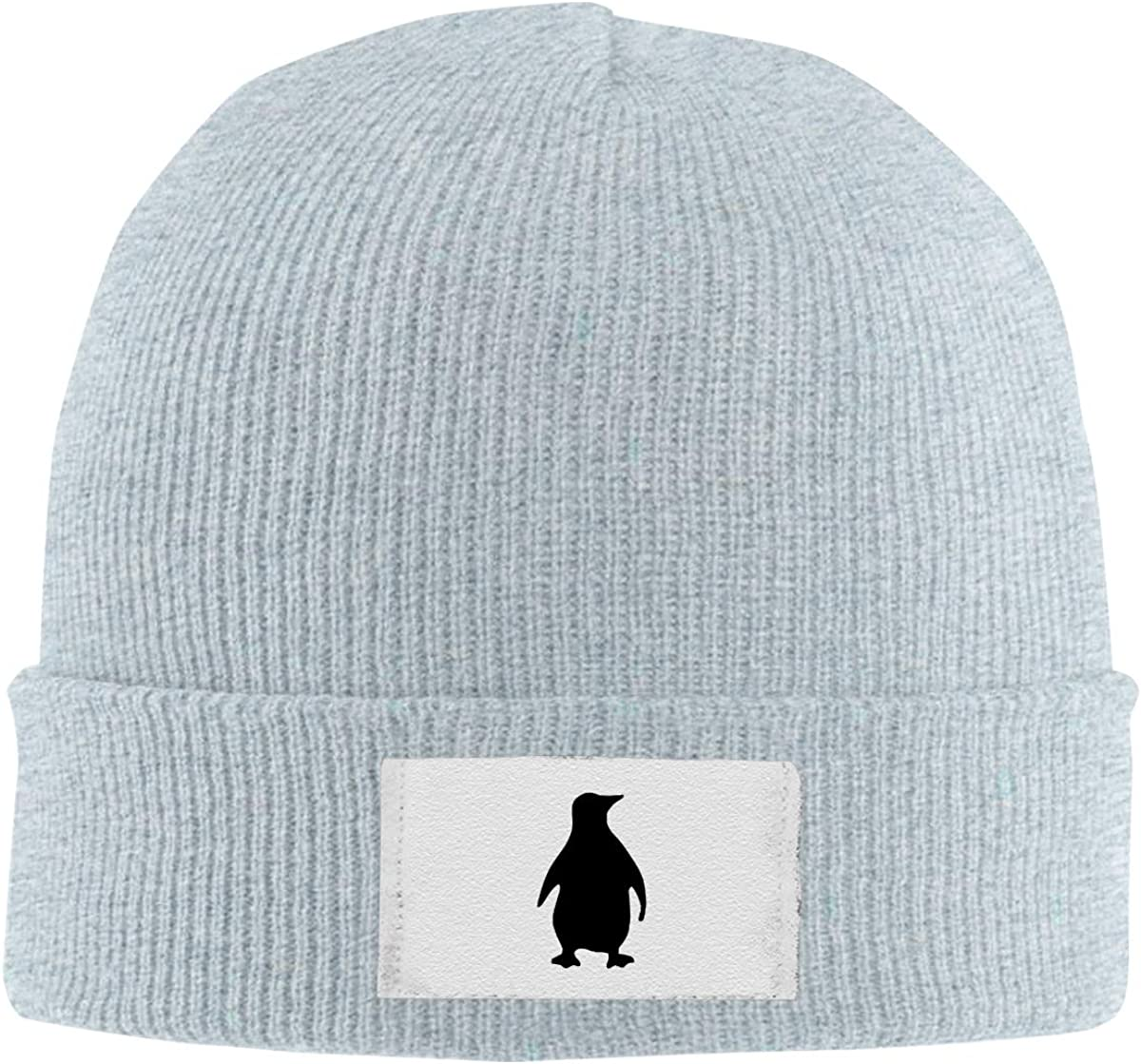 Dunpaiaa Skull Caps Shadow of The Penguin Winter Warm Knit Hats Stretchy Cuff Beanie Hat Black