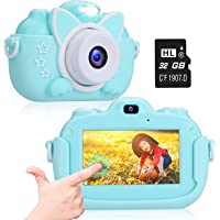 Kids Camera, A-TION Camera for Kids with 3.0 inch IPS Touchscreen, Rechargeable Selfie Camera for Children, Lanyard…