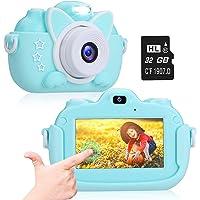 "A-TION Cámara para Niños, Pantalla Táctil IPS de 3.0"" Cámara de Fotos Digital para Niños 24MP 1080p HD Video Cámara…"