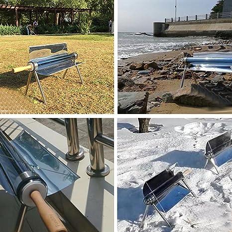 TOPQSC Parrilla Solar Solar Cocina Solar Barbacoa Estufa Portátil Solar Horno Sun Cooker Barbacoa Grill con Bolsa: Amazon.es: Jardín