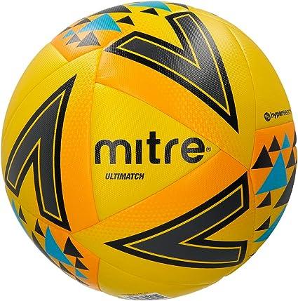 Mitre Ultimatch Balón de Fútbol de Partido, Unisex Adulto: Amazon ...