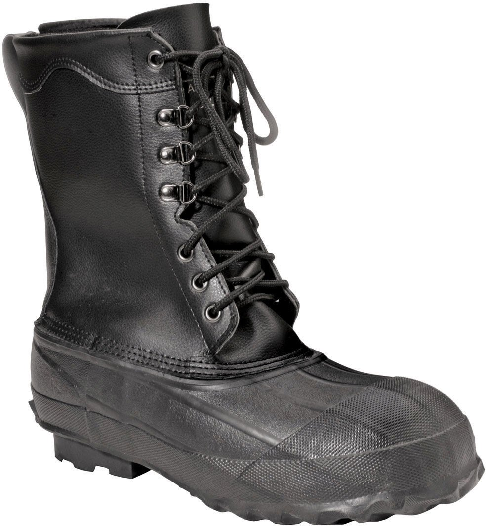 Ranger 10'' Men's Leather & Rubber Steel Toe Insulated Pac Boots, Black (A521) by Honeywell