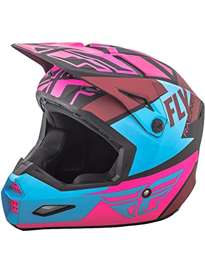 FLY RACING ELITE GUILD HELMET MATTE NEON PINK/BLUE/BLACK MD 73-8609