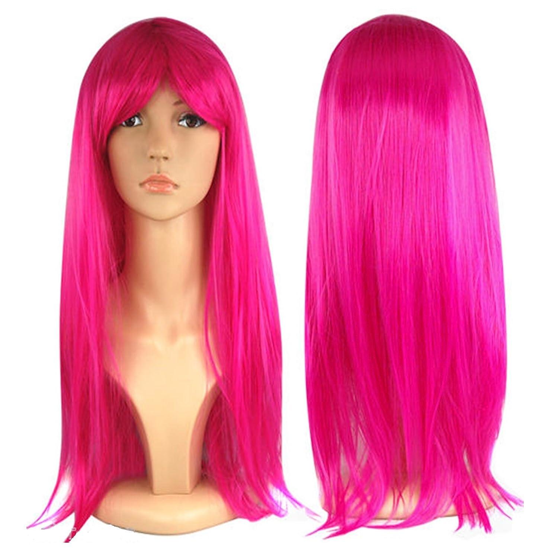 Peluca larga recta para mujer Vestido de Lujo Cosplay Wigs POP Party ...