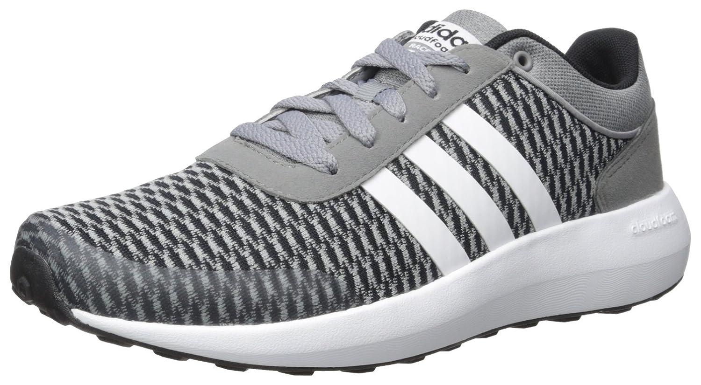 best deals on b1924 aa73e Adidas Neo Mens Cloudfoam Race Running Shoes BlackWhiteGrey Cheap And  Fine 71E146