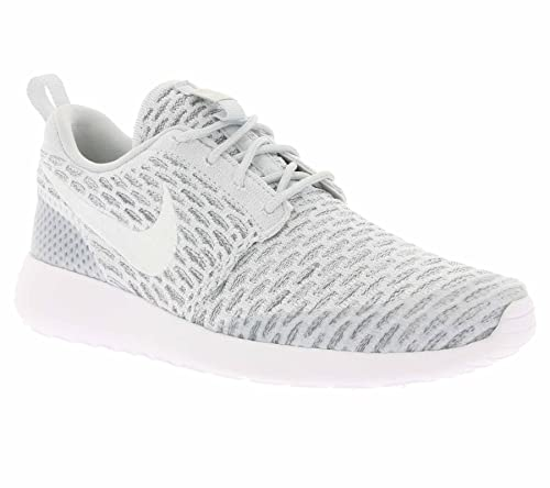 competitive price fa2e5 bebb1 Nike Roshe Rosherun Flyknit Womens Pure Platinum Cool Grey White 704927-009  (