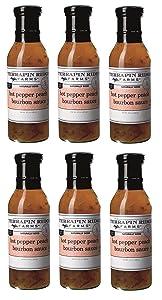 Terrapin Ridge Farms Hot Pepper Peach Bourbon Sauce – Six 12 Ounce Bottles