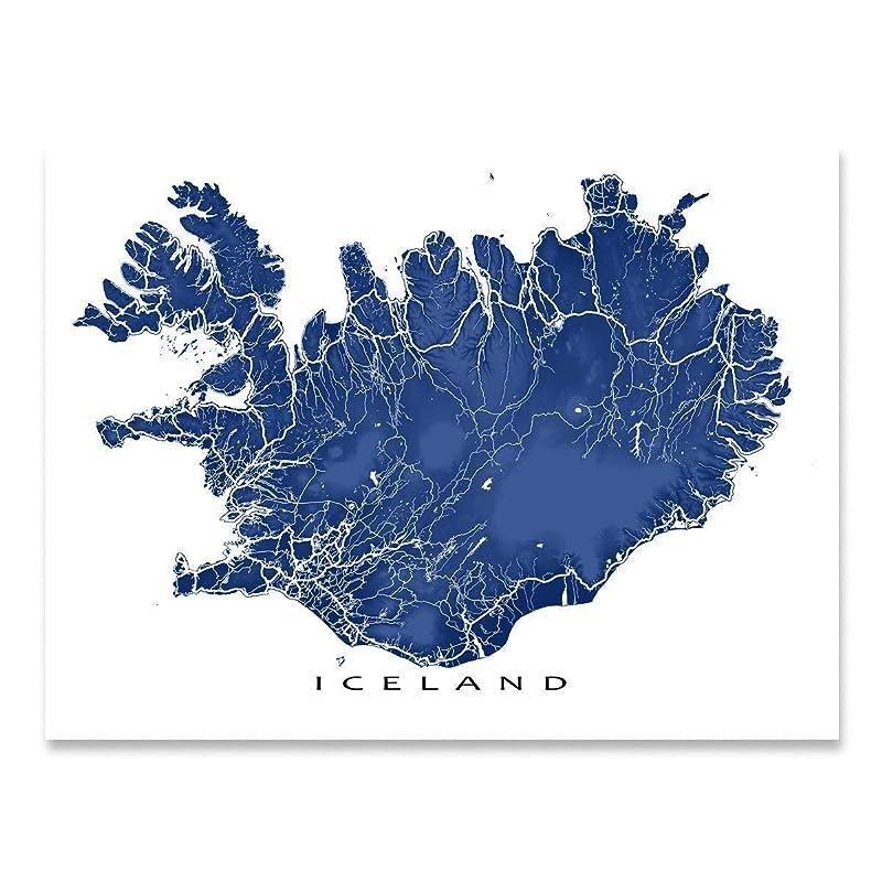 Reykjavik Iceland Wall Art REYKJAVIK MAP PRINT Customizable Colors Minimalist Art City Map Poster