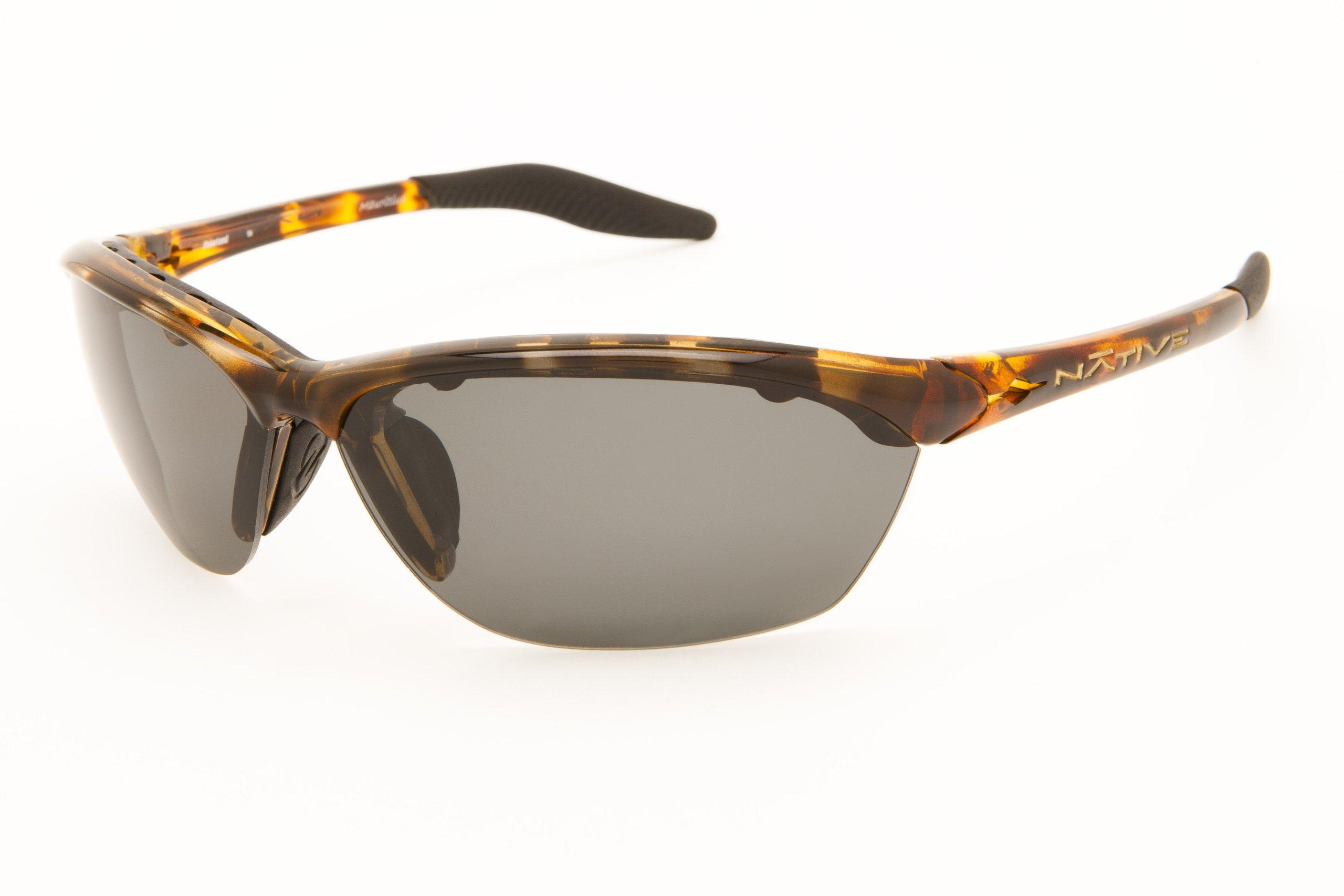 Native Eyewear Hardtop Sunglasses, Tobacco with Gray Lens