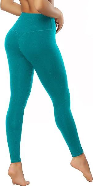 KAYVEN MAS Mesh Leggings, High Waist Yoga Pants Tummy Control Workout Running 4 Way Stretch Pocket Leggings