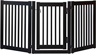 """product image for Dynamic Accents Amish Craftsman Highlander Series Solid Wood Pet Gates are Handcrafted 32"""" High - 3 Panel Walk Through/Black"""