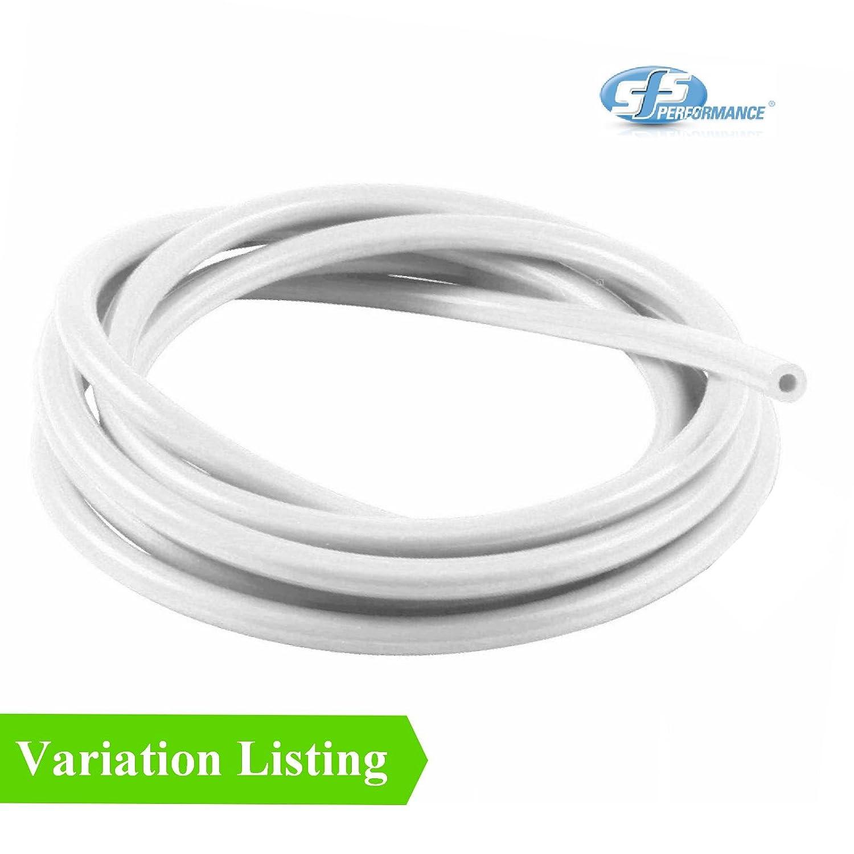 8mm White 5 Metre Silicone Vacuum Hose