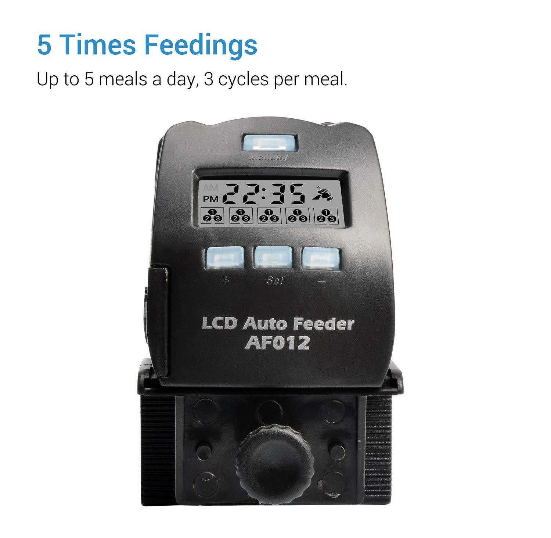 Pantalla LCD Dispensador de Alimentos de Peces para Dep/ósito de Peces NICREW Acuario Alimentador Autom/ático de Peces