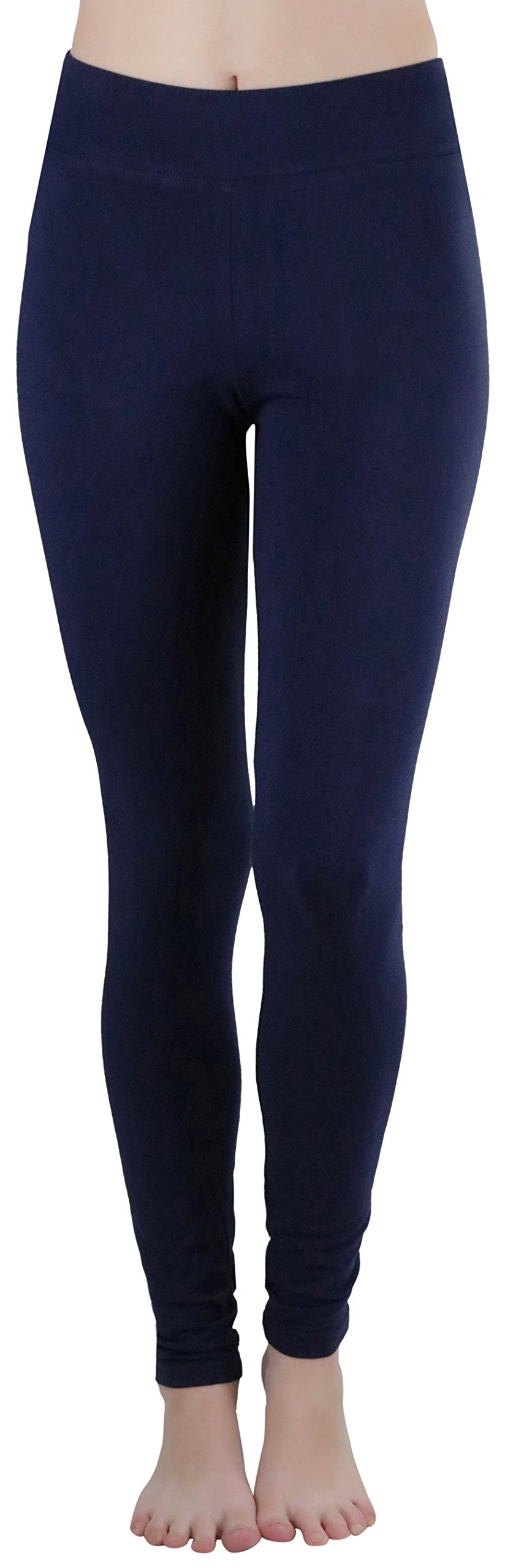 ToBeInStyle Women's Medium Weight Breathable Leggings - Navy - Large