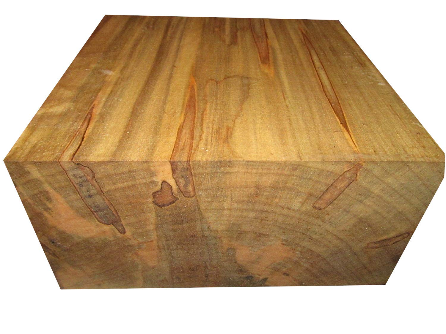 One Thick 8'' X 8'' X 4'' Ambrosia Maple bowl blank Turning Block Lumber Processed Green and Completely Sealed with Anchorseal . by A2Z WOOD NATURAL