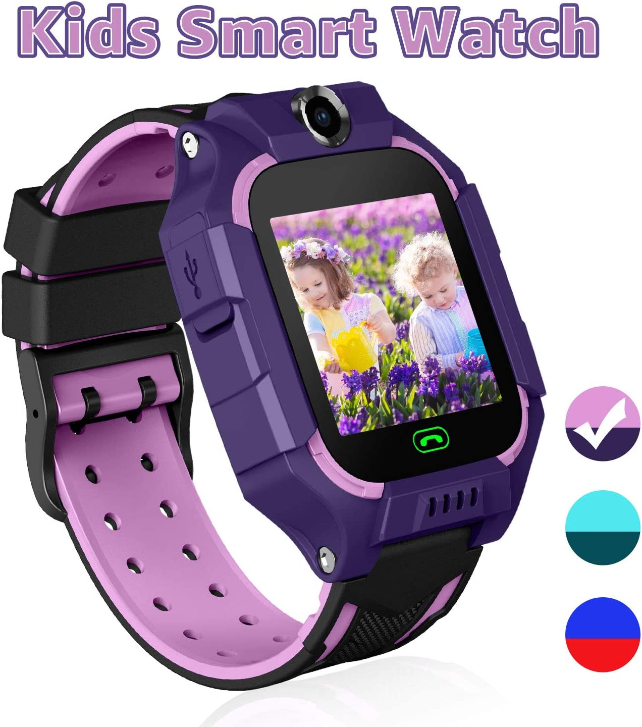 YENISEY Kids Games Smart Watch Touch Screen Smartwatches Phone for 3-4 Year Children Boys Girls Students with SOS Two Way Call Camera Alarm Clock ...