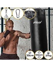 Saco de Boxeo para Adultos | Relleno, Ø35, H100cm, Peso 27kg, con