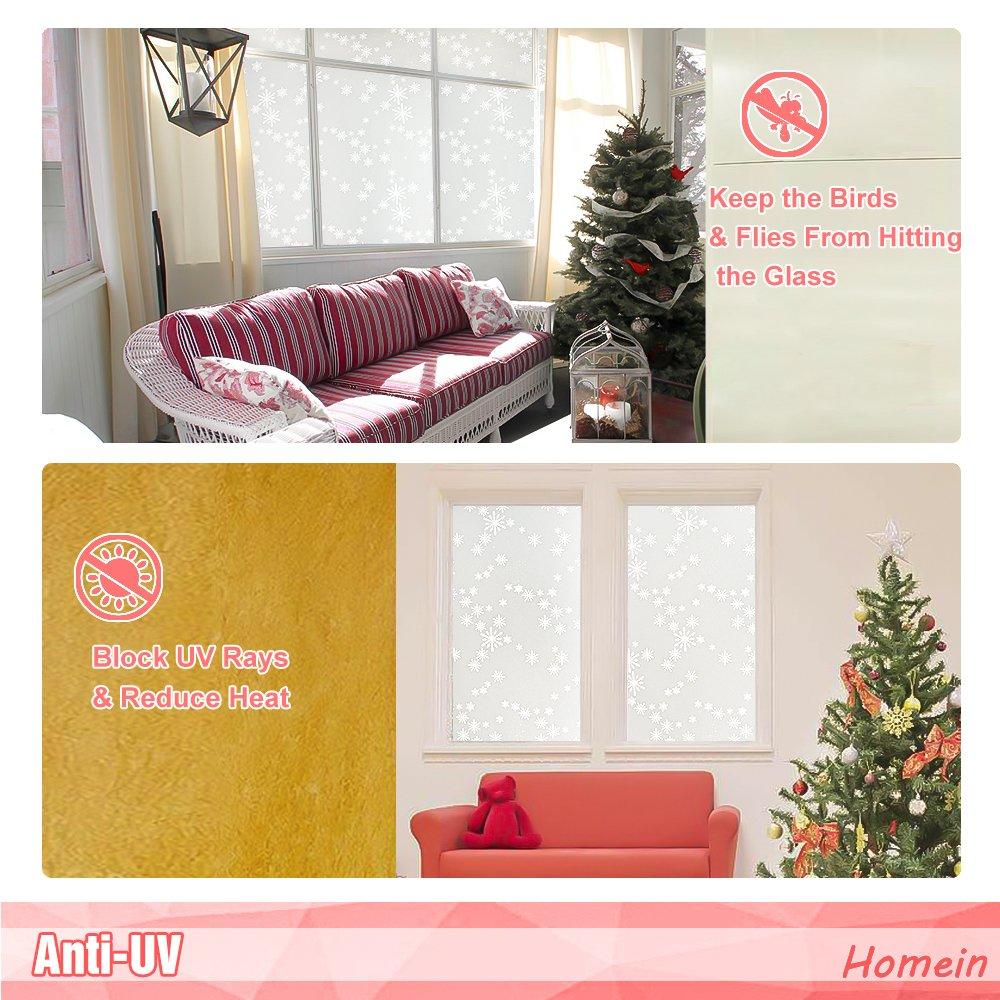 Homein Fensterfolie Milchglasfolie Sichtschutzfolie Klebefolie Anti