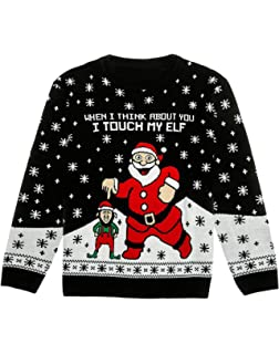 Alex Stevens Men S Santa S Candy Cane Throne Ugly Christmas Sweater