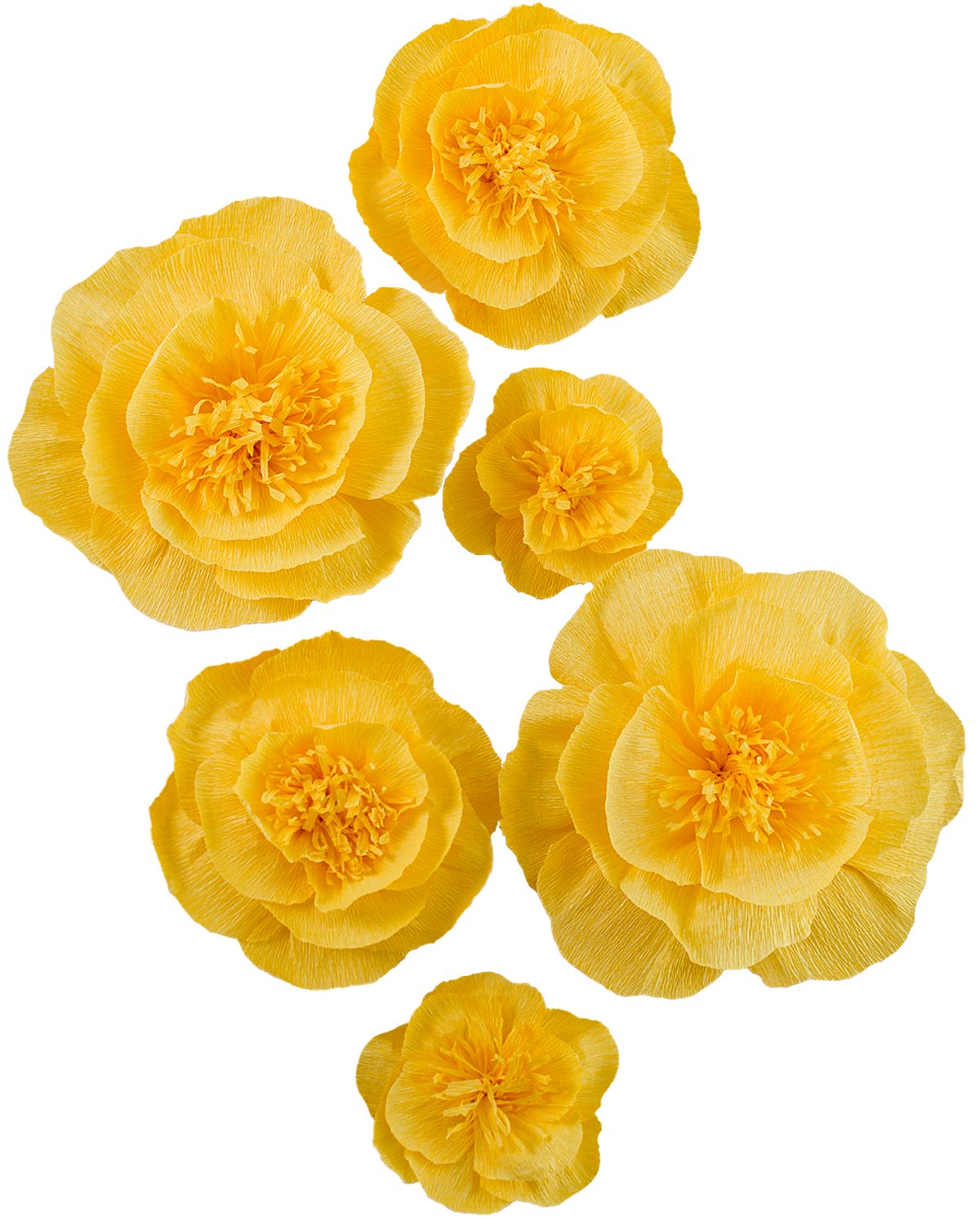 Large Paper Flower Decorations Golden Yellow Crepe Paper Flower ...