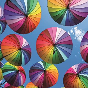 Amazon.com: LFEEY - Paraguas de color azul cielo de 60.0 x ...