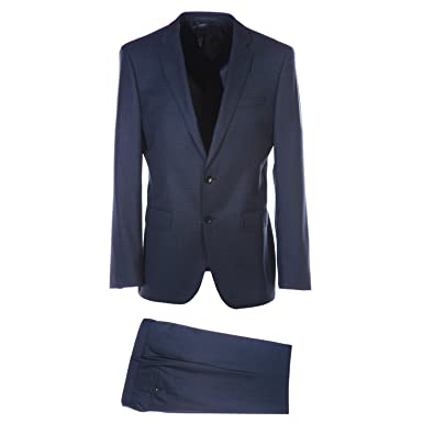 f848d6180 Amazon.com: BOSS Huge Genius Suit in Navy Check 48R: Clothing