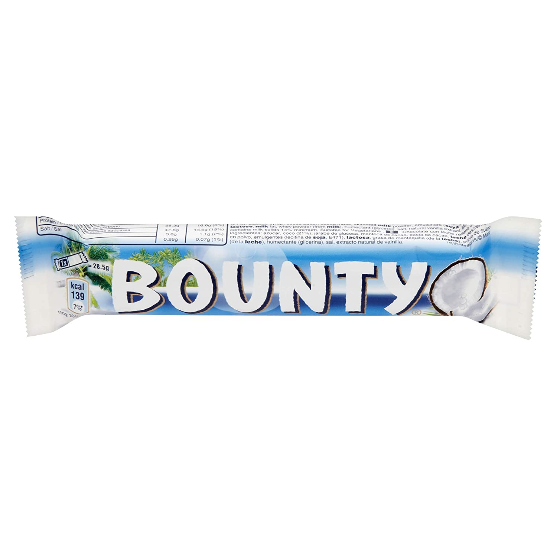 Bounty de chocolate con leche, 24 unidades) (24 x 57 g): Amazon.es: Alimentación y bebidas