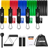 LUDTOM Resistance Bands Set 11 pcs, Exercise Workout Bands with Door Anchor, Handles, Waterproof Carry Bag and Ankle…
