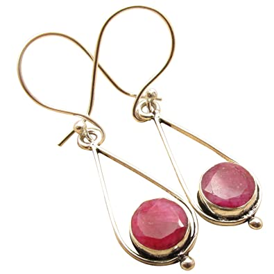 5716963d6 Amazon.com: 925 Sterling Silver Plated Handcrafted Earrings, RUBY Gemset  Jewellery Retailer Indian Jewelry: Jewelry