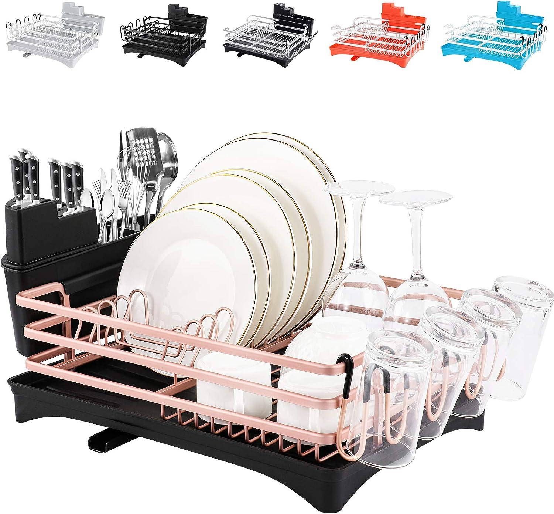 Rottogoon Aluminum Dish Drying Rack, 16.5