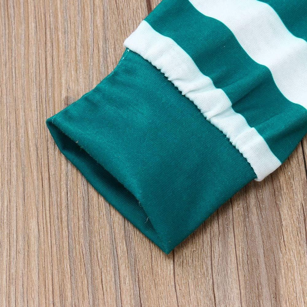 Christmas Pajamas Set 2PCS//Packs Kids Baby Tops Blouse Pants Family Pajamas Sleepwear Clothes