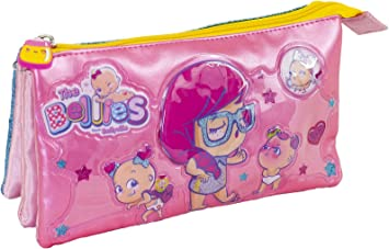 The Bellies From Bellyville 700015958 - Estuche portatodo Triple con Tres Compartimentos (Famosa), Rosa: Amazon.es: Equipaje