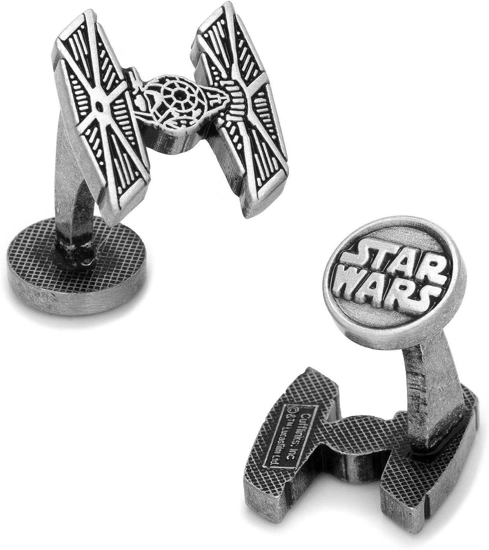 SW-TIEF-SL Star Wars Mens TIE Fighter Cufflinks