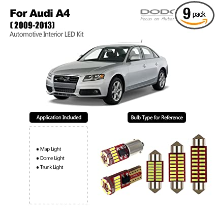 Amazoncom Dodofun Deluxe Interior Led Light Kit For 2009 2013 Audi