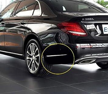 Dibiao 4Pcs Silver Car External Front Fog Lamp Frame Cover Trim Decoration Strip for Auto Mercedes E Class W213