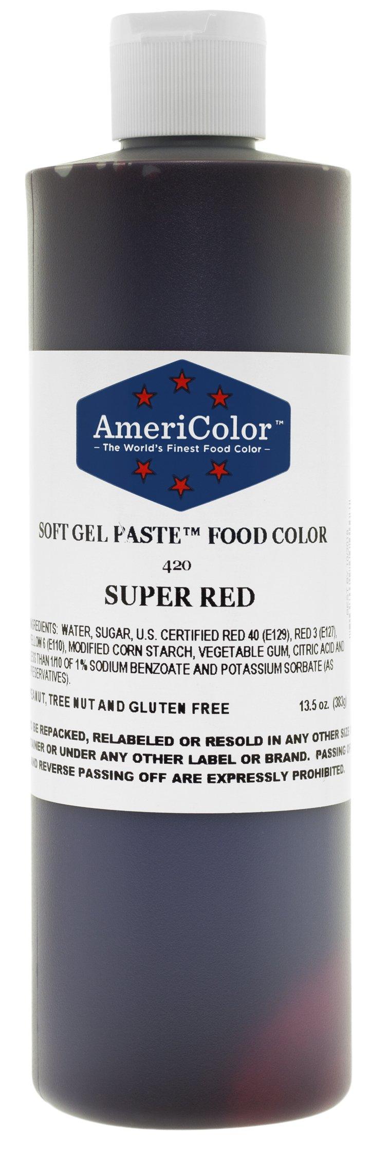 Americolor Food Color Super Red 13.5 Oz by AmeriColor