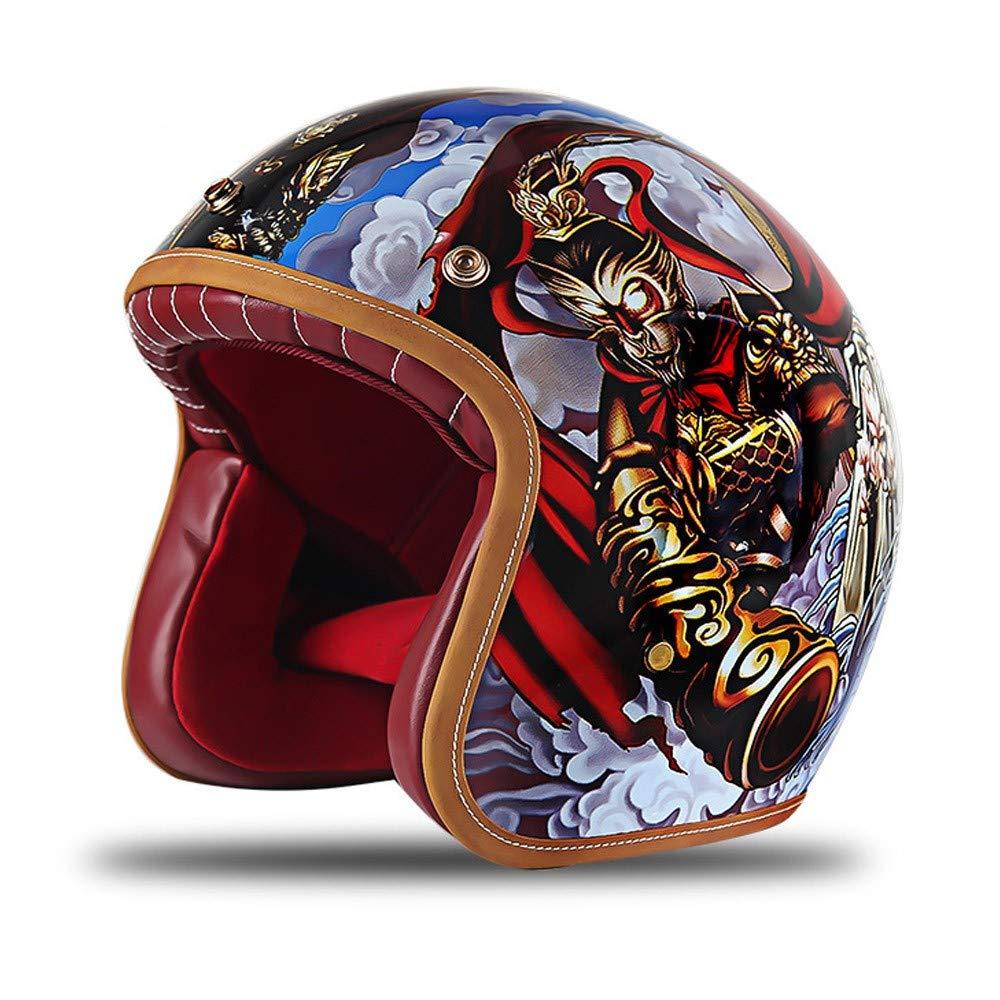 Forro Desmontable Medio Casco De Motocicleta Abierto Certificaci/ón Dot Casco De Montar Al Aire Libre VWBQ Casco De Moto Harley Vintage M/últiples Estilos Disponibles