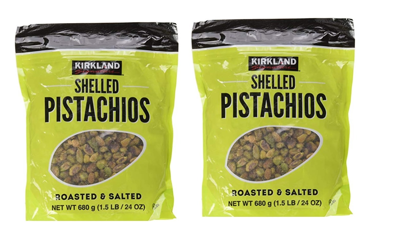 Kirkland Signature Shelled Pistachios, Roasted & Salted, 24 oz (2 Pack)