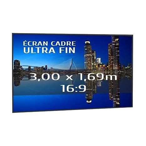 KIMEX 044-6017 Pantalla de proyección fija con marco ultrafino 300 ...