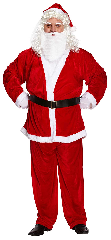 Lujo Adulto Papá Noel Navidad Disfraz XL talla grande Henbrandt W00 ... a22abb16ff0