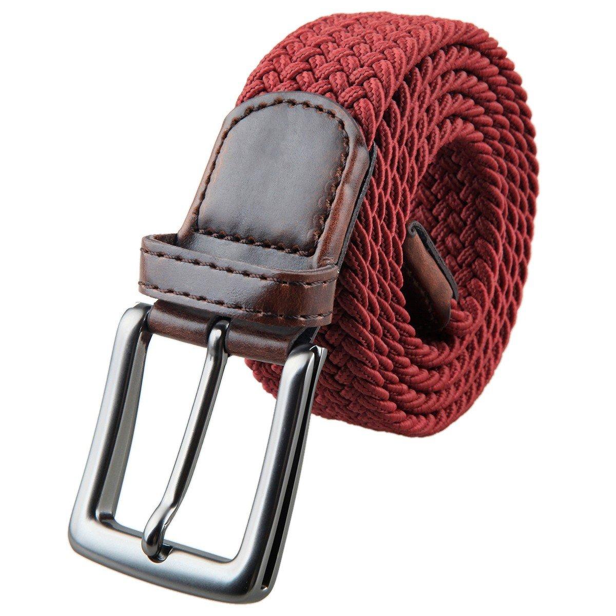 5890452c9 Shanxing Elástico Trenzado Cuero Hebilla Cinturón para Hombres y las ...