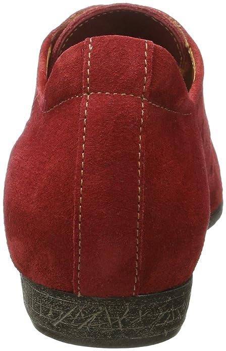 Think Ebbs, Zapatos de Cordones para Mujer, Rojo (Rosso/Kombi 72), 42 EU