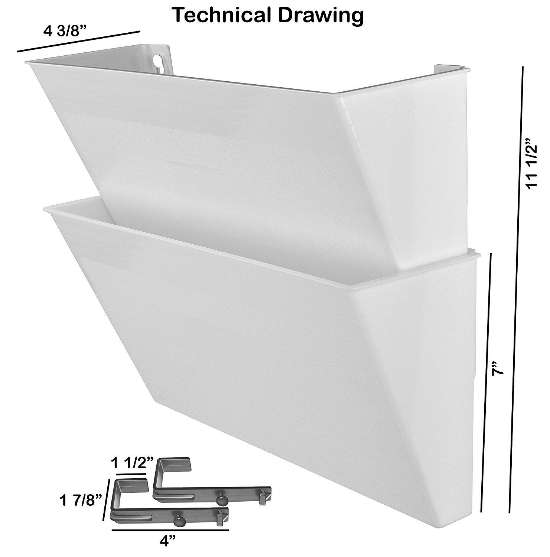 Acrimet Archivador de Pared Modular para Folletos o Documentos (2 Unidades) (Color Blanco): Amazon.es: Oficina y papelería