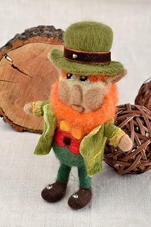 Juguete hecho a mano peluche de fieltro original regalo para nino Troll