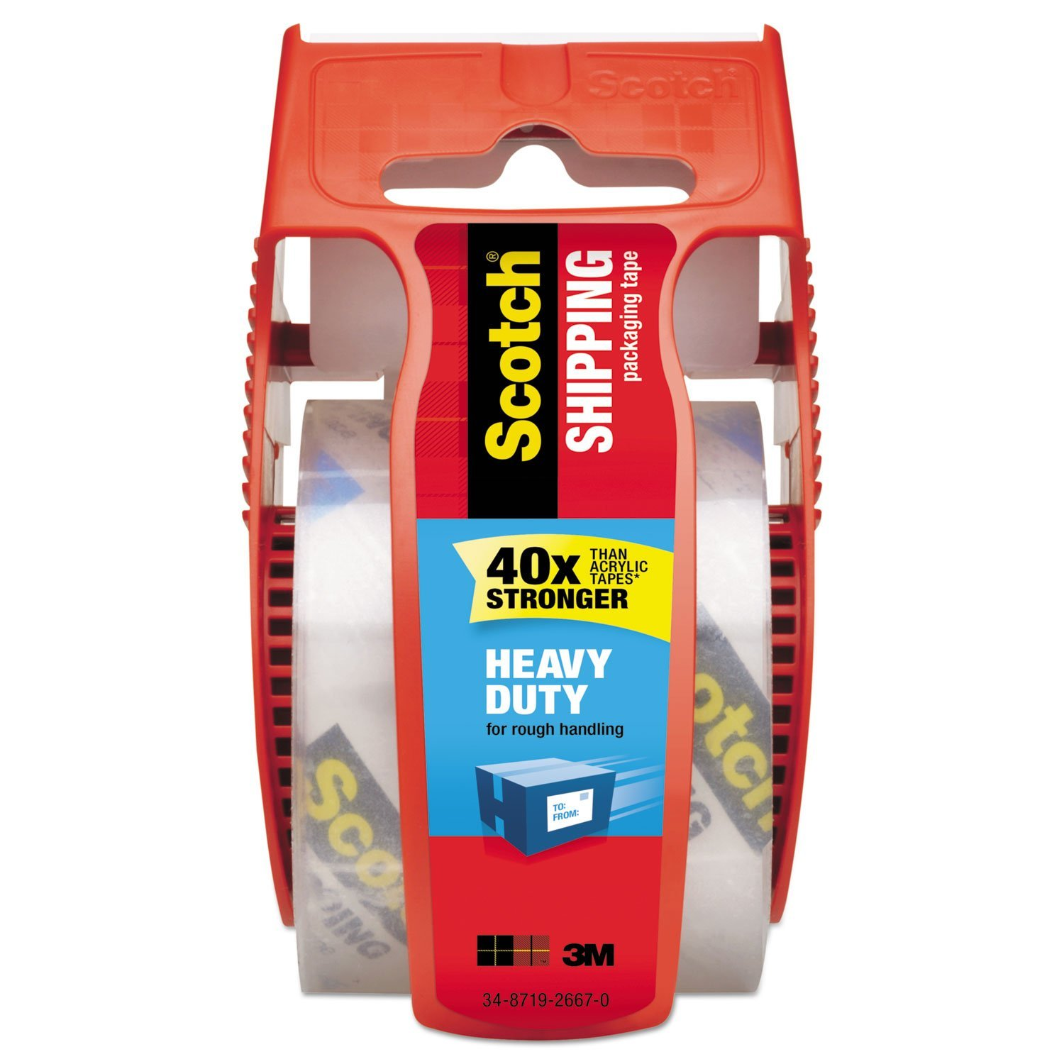 Scotch Heavy Duty Packaging Tape, 1.88 Inches x 800 Inches, 1 Roll (142) 3M Office Products