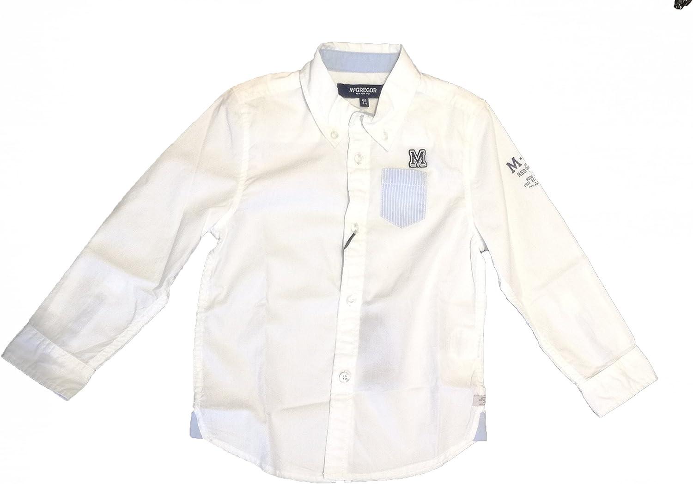 McGregor - Camisa de Manga Larga Paul Solid, niño, Color: Blanco, Talla: 4 años: Amazon.es: Ropa y accesorios