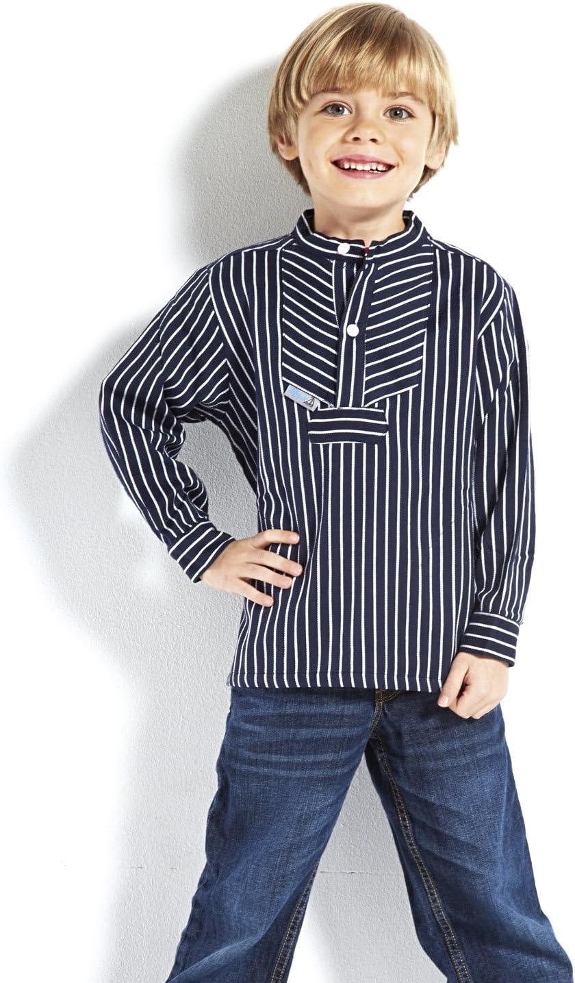 modAS Fischerhemd Basic breit gestreift Kinder Skipper