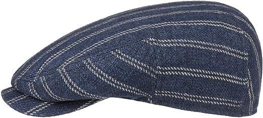 Made in Germany Stetson Hatteras Stripes Linen Cap Men
