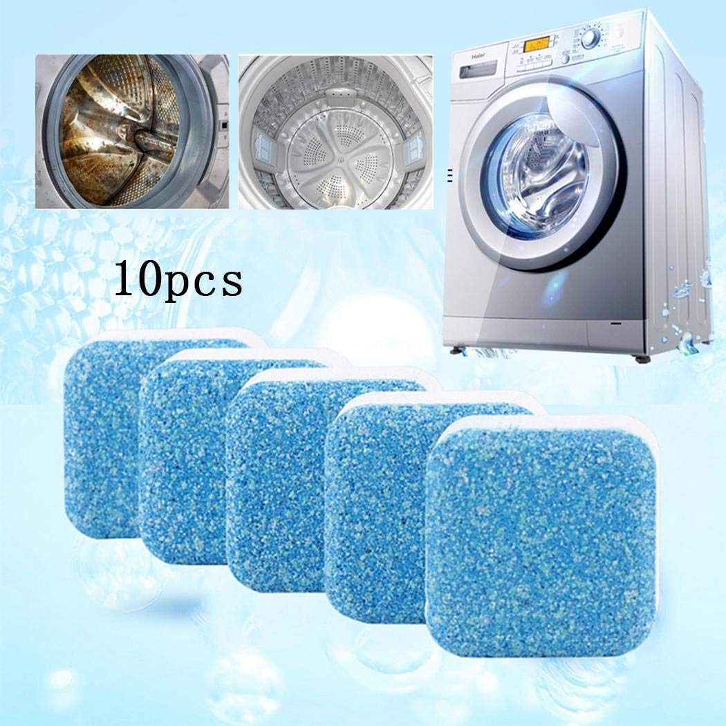 Cascat 10Pcs Household Washing Machine Cleaners,Deep Cleaning Descaler for Washing Machine Tank Cleaning Sheet
