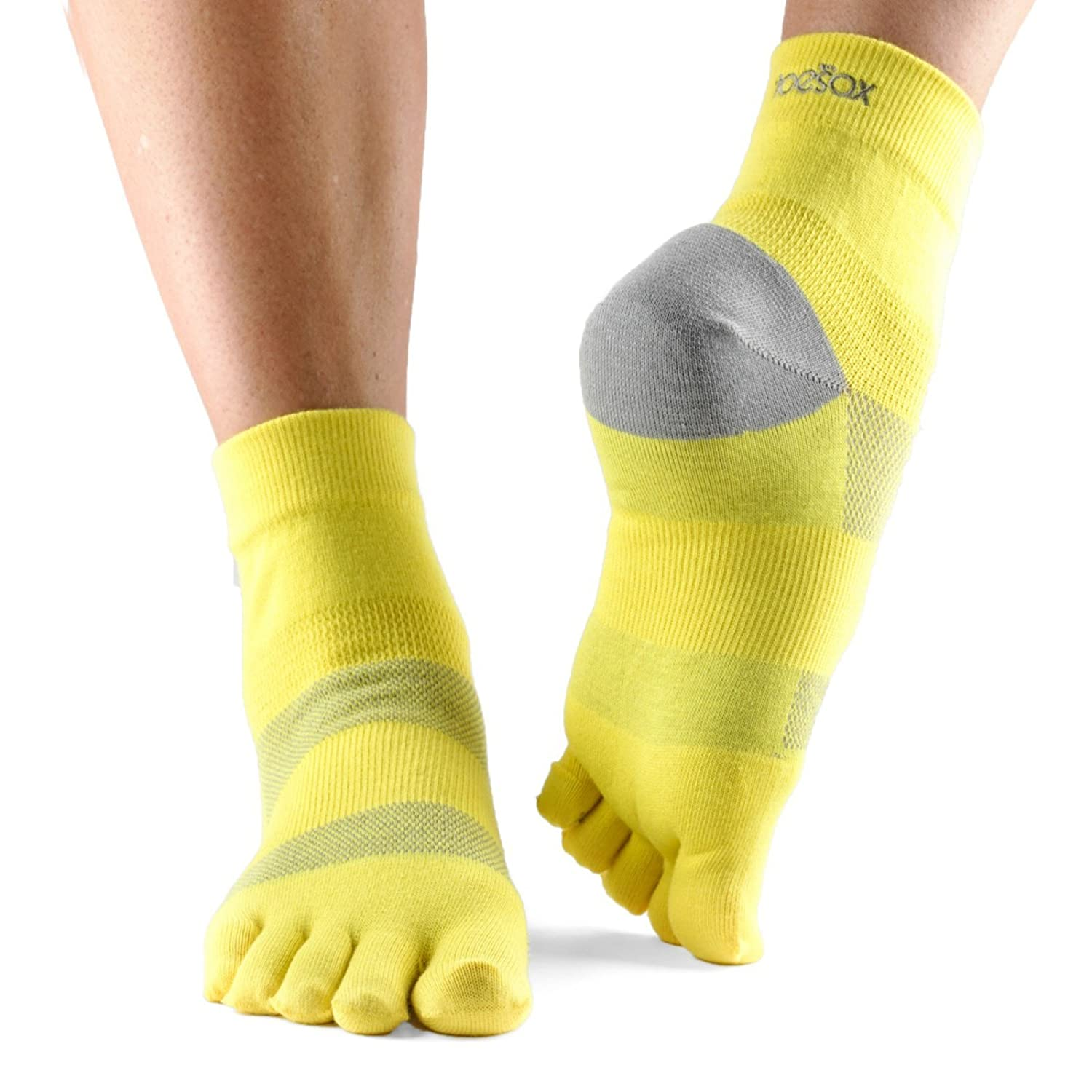 Toesox Minnie Women's Performance Five Toe Ankle Sport Toesocks for Hiking, Trails, Crossfit, Gym Work Out, and Long Distance Running